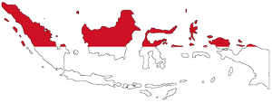 Flag-map_of_Indonesia_zero_waste_week