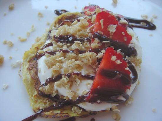 zero waste week strawberry and banana pancake recipe