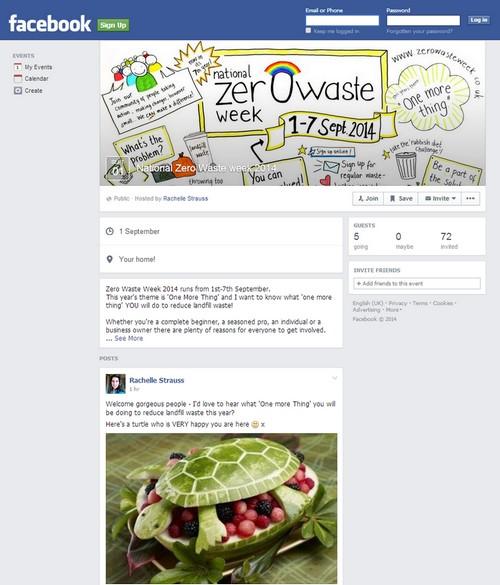 zero waste week facebook events page