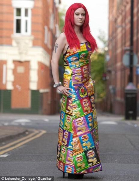 crisp packet dress
