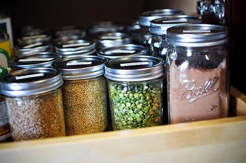 reuse old glass jars
