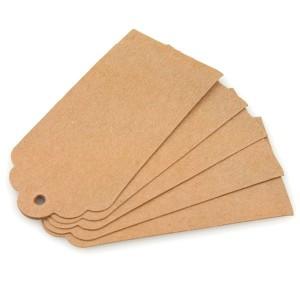 reuse cardboard to make luggage tags