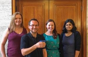 sustainability team at university of london taking part in zero waste week