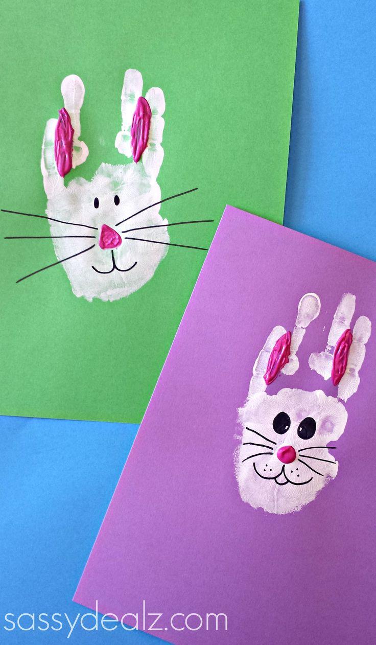 Bunny Rabbit Handprint Craft For Kids Easter Idea Crafty Morning