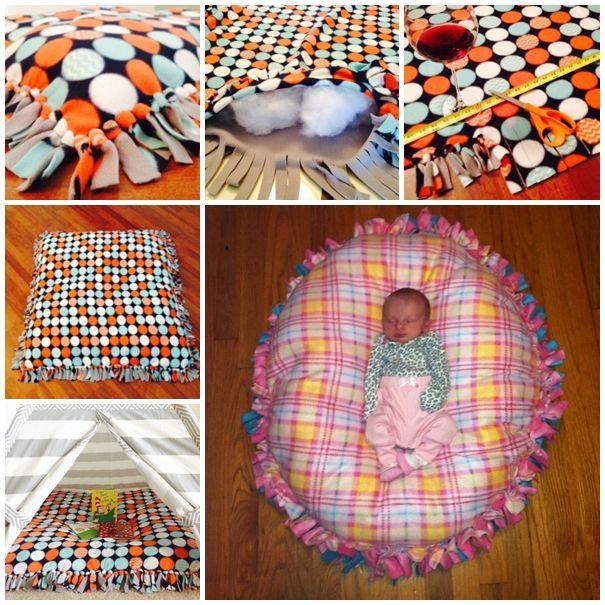 Wonderful DIY Floor Pillow Without Sewing | WonderfulDIY.com - ZERO ...