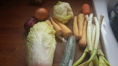 paulas bottom of the fridge soup ingredients - zero waste week
