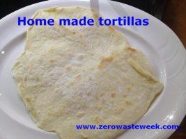 zero waste week home made tortillas recipe