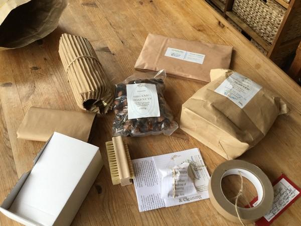 minimal packaging from natural spa supplies