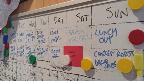 Kitchen meal planner from Sarah - zero waste week