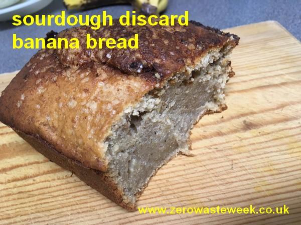 photograph of sourdough discard banana bread