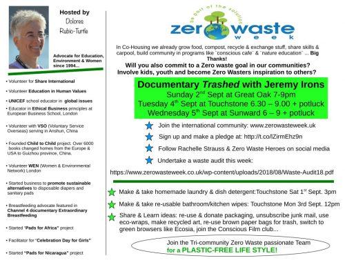 dolores rubio turtle zero waste week event flyer