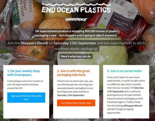 greenpeace shoppers revolt