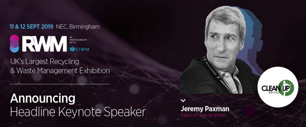 jeremy paxham headline keynote speaker RWM recycling and waste managaement exhibition