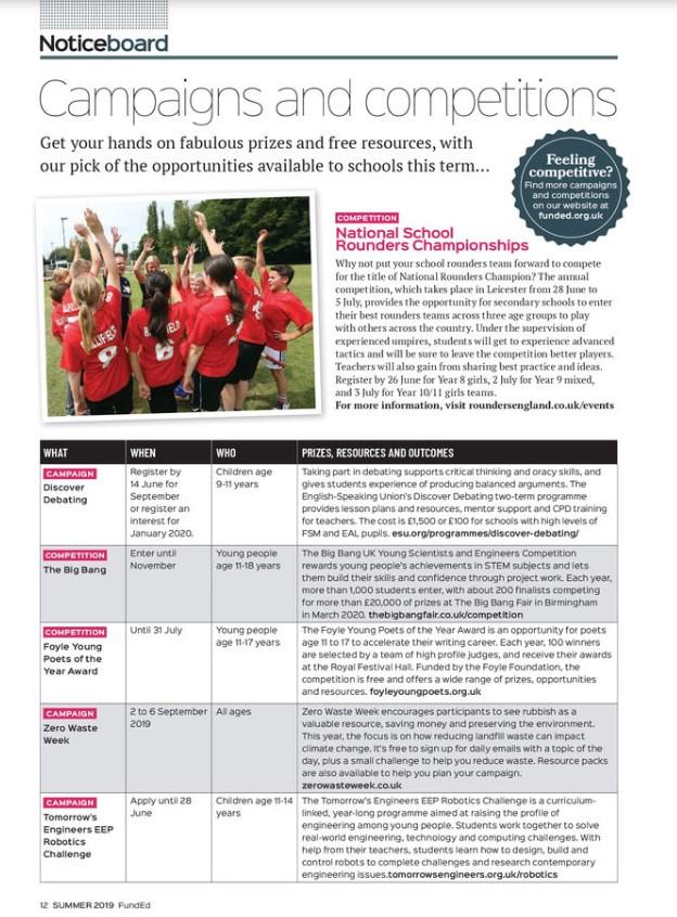fund ed educational magazine